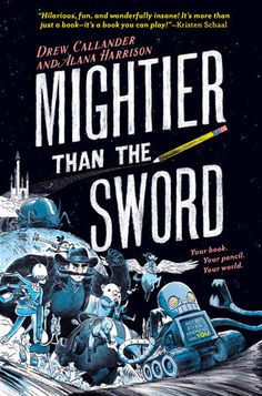"Mightier Than the Sword ""it's a book you can play!""--Kristen Schaal Wildly funny and inventive, this interactive book pulls you, the reader, into the action. New Books, Good Books, Children's Books, Enchanted Book, Picture Puzzles, Summer Books, Before Midnight, Business For Kids, Book Activities"