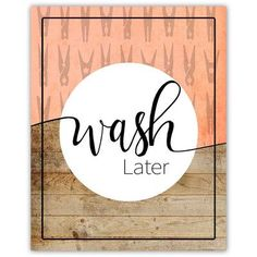 Picture it on Canvas Laundry Room - Wash Wall Decal