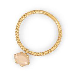 Peach Moonstone Charm Ring | NikkiBlakes.com