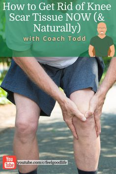 Knee scar tissue (especially after knee surgery) can be a real hassle. That's why I use this 3 step process on how to get rid of knee scar tissue NOW & naturally with my clients. Knee scar tissue massage and knee scar tissue exercises are super helpful in breaking up the adhesives created from the knee arthrofibrosis. Don't struggle with lack of knee range of motion any longer! Knee Replacement Recovery, Knee Replacement Surgery, Scar Tissue Massage, Knee Surgery Recovery, Getting Rid Of Scars, Knee Strengthening Exercises, How To Strengthen Knees, Knee Pain Relief