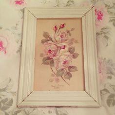 Rachel Ashwell Shabby Chic TM Chirstie Repasy Floral Painting Vintage Frame   eBay
