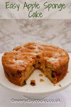 Easy to make, a moist fruity Apple Sponge Cake for pudding or tea. Easy to make, a moist fruity Apple Sponge Cake for pudding or tea. Apple Sponge Cake, Sponge Cake Recipes, Apple Cake Recipes, Baking Recipes, Cookie Recipes, Dessert Recipes, Desserts, Apple Cakes, Carrot Cakes