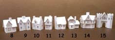Glitter Houses: Tiny Village 2013 (#8 thru #15) instructions