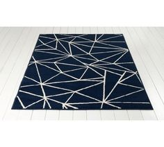 buy home fractured lines rug 120x160cm blue at argoscouk