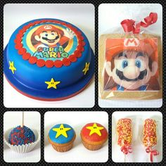 Combo MarioBros #pritycakes #fondantcakes #edibleprints #malvapops #cupcakes #cakepops #galletas #supermariobros