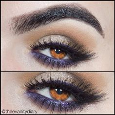 Wearable look for brown/amber eyes