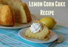 Lemon Corn Cake Recipe - this is an easy cake recipe from scratch that is rich, lemony, and delicious! Corn Pudding Casserole, Sweet Corn Pudding, Corn Pudding Recipes, Cornbread Casserole, Cake Recipes From Scratch, Easy Cake Recipes, Budget Recipes, Corn Muffin Mix, Corn Cakes