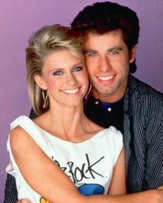 -Olivia Newton-John and John Travolta i had my hair cut like this !! Love her!!