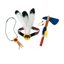 3-Piece Headdress, Necklace, Tomahawk Set