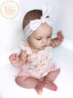 Pink Baby Headband / Baby Headband / Baby gift / Toddler Headband / Infant Headband / Pastel Baby Headband Little Daisy Dots Handmade Baby