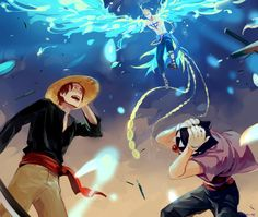One Piece, Shanks, Buggy, Marco