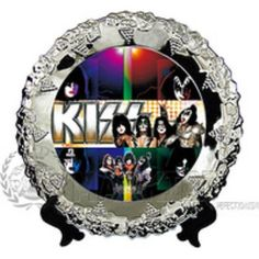 KISS ROCK BAND Decorative Stainless Steel Collector Plate