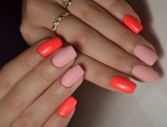 Outstanding Fall Nails Designs Ideas That Make You Want To Copy - Page 26 of 79 - NailTrendLife Nail Art Design Gallery, Best Nail Art Designs, Fall Nail Designs, Two Color Nails, Nail Colors, Pink Nail Art, Pink Nails, Easy Nail Art, Cool Nail Art