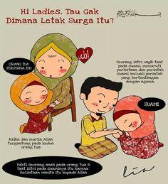 Surganya wanita ada pada orang tua dan suami