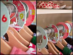 DIY closet dividers using Mod Podge