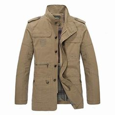 Men's Spring Casual Business Washed Lapel Cotton Blend Jacket Coat - Newchic Mobile.