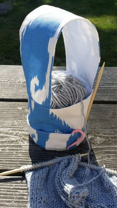 Knitting Wristlet perfect for knitting on the go. Need this!