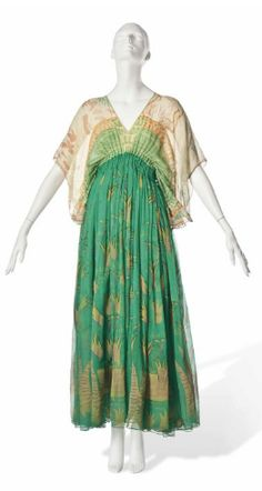 Zandra Rhodes Chiffon Dress! 1973. I am old enough to remember these type of dresses and tunics. Used to wear them then and will wear them again now....