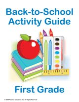 First Grade Summer Learning Guide    Print off this guide of fun and educational activities that will help prepare your students over the summer for the first-grade school year.