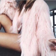 blush faux fur. fun!