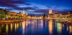 Zurich by Night Lightroom, Zermatt, Swiss Alps, Night City, Switzerland, Europe, France, Mansions, House Styles