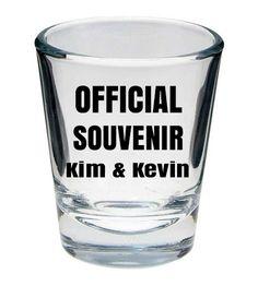 Official Souvenir wedding favor shot glass  http://www.expressimprint.com/Custom/Shot_Glasses