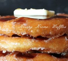 ~Krispy Kreme Waffles with butter and syrup! I just gained ten pounds looking at this! What's For Breakfast, Breakfast Dishes, Breakfast Recipes, Waffle Day, Waffle Iron Recipes, Make French Toast, Krispy Kreme, Pancakes And Waffles, I Love Food