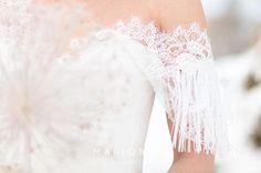 Les détails de dentelle de la douce robe Angy - Caroline Takvorian - Robe de mariée sur-mesure à Lyon