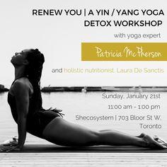 Eventbrite - Avazera presents Avazera Patricia Mcpherson, Yin Yang Yoga, Yoga Detox, Hand Making, Holistic Nutritionist, Youre Invited, January, Workshop, 21st
