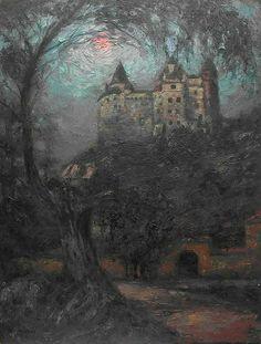 Art and Salt Vampires, Sacred Groves, Fantasy Castle, Lost In Translation, Creatures Of The Night, Traditional Art, Moonlight, Sunrise, Illustration Art