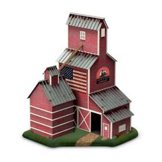 Sculptural Train Accessory: Country Grain Elevator -  	     	              	View Sale Price   The classic cribbed wooden grain elevators that were so vital to bringing grain to market from America's farms have become proud centerpieces of farming towns across the Midwest. Now you can add a nostalgic piece of the American heartland and railroading...