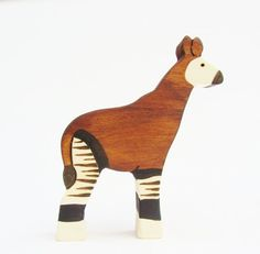 Wooden Okapi Toy Waldorf natural by Imaginationkids on Etsy, $15.00
