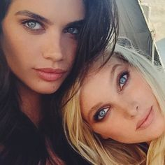 Sara Sampaio and Elsa Hosk are both blue-eyed stunners