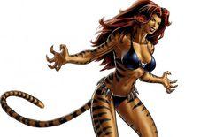 Tigra character model from Marvel: Avengers Alliance Marvel Avengers Alliance, Marvel Vs, Marvel Heroes, Marvel Comics, Marvel Women, Marvel Girls, Marvel Females, Kung Fu Panda, Tigra Marvel