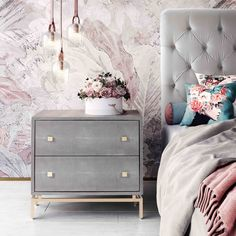 Available online only. Do you need to add a touch of elegance to your bedroom? The Petry Shagreen Nightstand will tie everything together beautifully. Pine Bedroom Furniture, Furniture Decor, Modern Furniture, Furniture Design, Bedroom Decor, Bedroom Ideas, Kitchen Furniture, Steel Furniture, Furniture Online