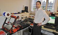 Building a 3D printer with a 3D printer
