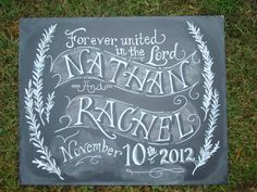 Chalkboard Art Sign for your Wedding or Event by watermelonstand, $60.00