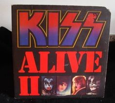 Kiss Live 2 Gatefold Cover 2Lps Very Good #HardRock
