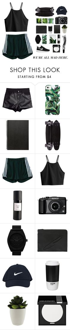 """M A D"" by ur-asya ❤ liked on Polyvore featuring H&M, Milly, Muji, GoldCoast, Eight & Bob, NIKE, Olympus, adidas Originals, Vlieger & Vandam and ROOM COPENHAGEN"