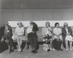 """Chris Killip  'Pensioners in a shelter, Whitley Bay, Tyneside', 1976, printed 2012–13"""
