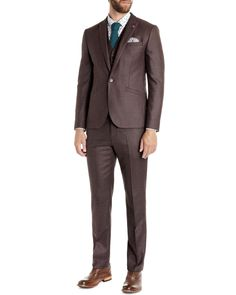 The Wedding Guest Suit – Ted Baker Hordor Red Wool Check Blazer, £299 A wedding is a special occasion and certainly isn't the time for lazy wardrobe choices. This autumn why not pick a deep red suit, it's an uncommon choice for the groom's party so you'll not blend in with the ushers, instead you'll be the super stylish guy at the bar. Now doesn't that sound good...