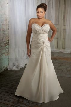 Graceful A-line Wedding Dress with Entrancing Beadings
