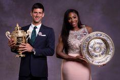 2015 Wimbledon Championships - Mens and Womens Winners Novak Djokovic & Serena Williams