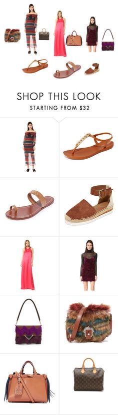 """""""It's time to wear stylish cloths"""" by jamuna-kaalla ❤ liked on Polyvore featuring English Factory, IPANEMA, Tory Burch, See by Chloé, Baja East, Only Hearts, Sara Battaglia, Paula Cademartori and vintage"""