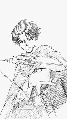 Image may contain: drawing Anime Character Drawing, Manga Drawing, Manga Art, Manga Anime, Anime Art, Attack On Titan Fanart, Attack On Titan Levi, Anime Drawings Sketches, Anime Sketch