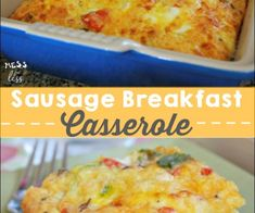 This sausage, egg and biscuit breakfast casserole is a great breakfast to make for a crowd! It really fills you up and is so easy to make because I use...