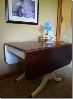 *wow* ...this drop-leaf table went from plain pitiful to just plain gorgeous! It's love ♥