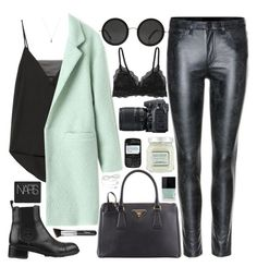 """""""202. Take a Mint"""" by ass-sass-in ❤ liked on Polyvore featuring Acne Studios, By Malene Birger, The Row, Prada, Chanel, Butter London, Laura Mercier, Nikon, Cosabella and NARS Cosmetics"""