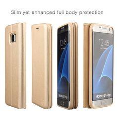 Nouske Samsung Galaxy S7 Edge Flip Wallet Case with: Amazon.co.uk: Electronics