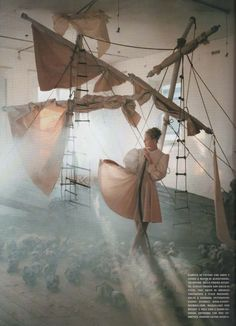 Tim Walker:  A Play of White, Vogue Italia, May 2006